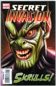 Skrulls #1 Dynamic Forces Signed Stan Lee DF COA Ltd 5 Secret Invasion Marvel comic book